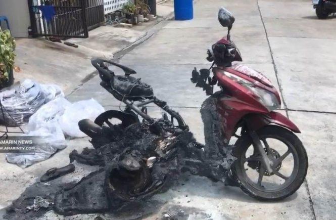 จักรยานยนต์เสียหาย
